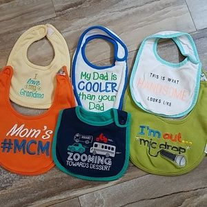 **SALE** 6 Assorted Baby Bibs